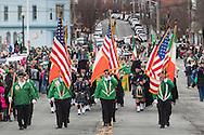 Goshen, New York - People enjoy the Mid-Hudson St. Patrick's Parade on March 15, 2015.