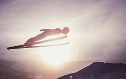 29.12.2018, Schattenbergschanze, Oberstdorf, GER, FIS Weltcup Skisprung, Vierschanzentournee, Oberstdorf, Qualifikation, im Bild Domen Prevc (SLO) // Domen Prevc of Slovenia during his Qualification Jump for the Four Hills Tournament of FIS Ski Jumping World Cup at the Schattenbergschanze in Oberstdorf, Germany on 2018/12/29. EXPA Pictures © 2018, PhotoCredit: EXPA/ JFK