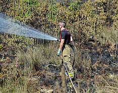 Firefighters battle serious brush fire, Fauldhouse, 28 June 2018