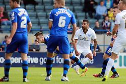 Peterborough United's Kyle Vassell scores the winning goal - Photo mandatory by-line: Joe Dent/JMP - Mobile: 07966 386802 09/08/2014 - SPORT - FOOTBALL - Rochdale - Spotland Stadium - Rochdale AFC v Peterborough United - Sky Bet League One - First game of the season