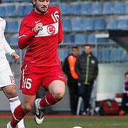 Turkey U21's Musa Cagiran during their friendly soccer match Turkey U21 betwen Denmark U21 at Recep Tayyip Erdogan stadium in Istanbul February 29, 2012. Photo by TURKPIX