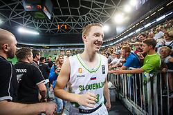 Miha Lapornik of Slovenia during qualifying match between Slovenia and Kosovo for European basketball championship 2017,  Arena Stozice, Ljubljana on 31th August 2016, Slovenia. Photo by Grega Valancic / Sportida