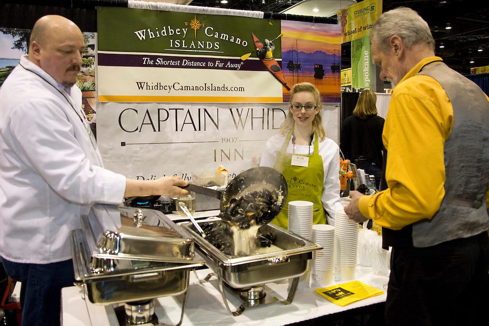 The Washtington State Wine commission organized the Taste Washington  Grand Tasting  event at the Seattle Qwest Event Center on 3/27/11. The Captain Whedbey Inn,