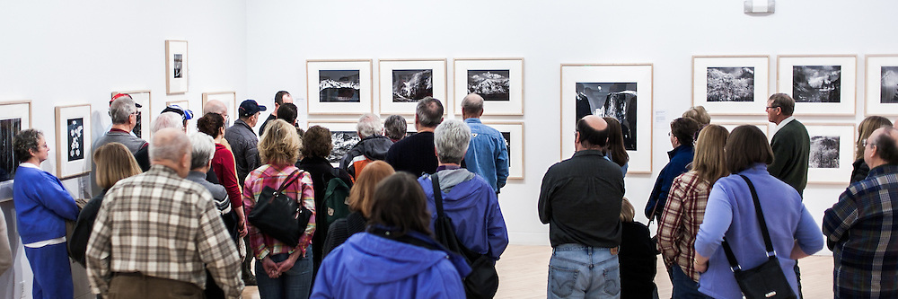 Profesional photographer Kenton Rowe talking about Ansel Adams life and work in Yosemite during a 2013 lecture at the Holter Museum of Art in Helena, MT