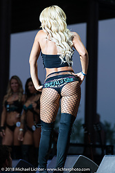 Bikini contest at the Buffalo Chip during the 78th annual Sturgis Motorcycle Rally. Sturgis, SD. USA. Friday August 10, 2018. Photography ©2018 Michael Lichter.