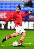 Fleetwood Town's Ched Evans warms up<br /> <br /> Photographer Richard Martin-Roberts/CameraSport<br /> <br /> The EFL Sky Bet League One - Bolton Wanderers v Fleetwood Town - Saturday 2nd November 2019 - University of Bolton Stadium - Bolton<br /> <br /> World Copyright © 2019 CameraSport. All rights reserved. 43 Linden Ave. Countesthorpe. Leicester. England. LE8 5PG - Tel: +44 (0) 116 277 4147 - admin@camerasport.com - www.camerasport.com