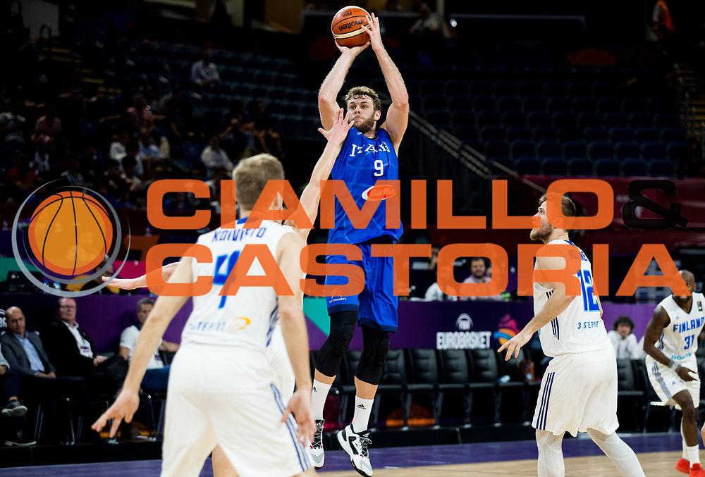 Niccolo Melli<br /> Nazionale Italiana Maschile Senior<br /> Eurobasket 2017 - Final Phase - Round of 16<br /> Finlandia Italia Finland Italy<br /> FIP 2017<br /> Istanbul, 09/09/2017<br /> Foto GiulioCiamillo / Ciamillo - Castoria