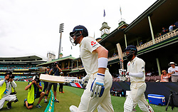 England's Jonny Bairstow and Moeen Ali walk out to bat during day five of the Ashes Test match at Sydney Cricket Ground.