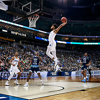 PITTSBURGH, PA - MARCH 17:  Duke Blue Devils forward Marvin Bagley III (35) goes in for an uncontested lay up during the second half of the second round of the NCAA Division I Men's Championships between the Duke Blue Devils and the Rhode Island Rams at PPG Paints Arena in Pittsburgh, PA on March 17, 2018. (Photo by Shelley Lipton/Icon Sportswire)