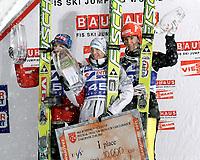 Hoppt<br /> Verdenscup / World Cup<br /> Zakopane Polen<br /> 23.01.2011<br /> Foto: Wrofoto/Digitalsport<br /> NORWAY ONLY<br /> <br /> FIS Weltcup, Siegerehrung. Bild zeigt Tom Hilde (NOR), Kamil Stoch (POL) und Michael Uhrmann (GER).