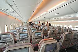 10.06.2010, Flughafen Schönefeld, Berlin, GER, ILA Internationalen Luftfahrt-Ausstellung, im Bild Innenansichtes des Airbus A380 der Emirates EXPA Pictures © 2010, PhotoCredit: EXPA/ nph/ Hammes / SPORTIDA PHOTO AGENCY