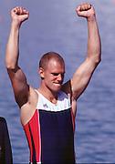 2000 Sydney Olympic Game, Olympic Regatta, Penrith Lakes, Penrith, NSW. AUSTRALIA:   NOR M2X Silver medallist, TUFTE, Olaf. © Peter Spurrier. 2000 Olympic Regatta Sydney International Regatta Centre (SIRC) 2000 Olympic Rowing Regatta00085138.tif