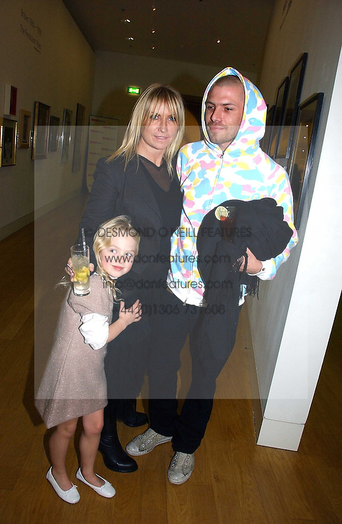MEG MATHEWS and DUSTIN BURGESS with her daughter ANAIS GALLAGHER at the opening of an exhibition entitled Exceptional Youth supported by Teen Vogue at the National Portrait Gallery, London on 3rd November 2006.<br /><br />NON EXCLUSIVE - WORLD RIGHTS