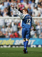 Photo: Lee Earle.<br /> Reading v Middlesbrough. The Barclays Premiership. 19/08/2006. Reading's Dave Kitson celebrates after scoring their first.