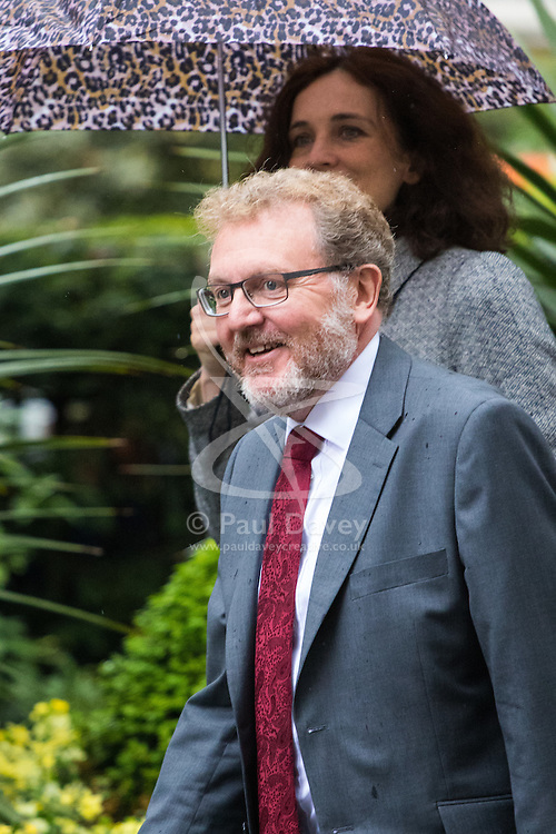 Downing Street, London, May 10th 2016. Scotland Secretary David Mundell and Northern Ireland Secretary Theresa Villiers arrive at the weekly cabinet meeting in Downing Street.