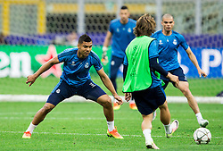 Casemiro, Luka Modric during training session of Real Madrid (ESP) ahead of their UEFA Champions League final against Atlético (ESP), on May 27, 2016 in San Siro Stadium, Milan, Italy. Photo by Vid Ponikvar / Sportida
