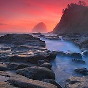 Cape Kiwanda - Haystack And Tide Pools - Oregon Coast - Sunset