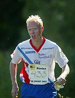 Orientering, 21. juni 2002. NM sprint. Øystein Kristiansen, Halden.
