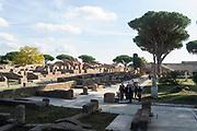 Apertura al pubblico degli Edifici restaurati del Decumano, presso gli Scavi di Ostia Antica. Roma 2 Novembre 2017. Christian Mantuano / OneShot<br /> <br /> Opening of the Restored buildings of the Decumano, at the Excavations of Ostia Antica. Rome 2 november 2017. Christian Mantuano / OneShot