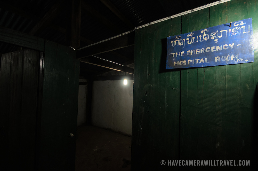 An emergency hospital room at the Pathet Lao Caves of Vieng Xai in Houaphanh Province in northeastern Laos. It was in these natural caves deep in karsts that the Pathet Lao leadership avoided constant American bombing raids during the Vietnam War.
