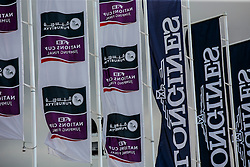 Sponsor flags<br /> Furusiyya FEI Nations Cup Jumping Final - Barcelona 2016<br /> © Hippo Foto - Dirk Caremans<br /> 22/09/16