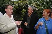 Adam Singleton, Geoff thompson, Janet Slee The Spectator At Home. Doughty St. 6 July 2006. ONE TIME USE ONLY - DO NOT ARCHIVE  © Copyright Photograph by Dafydd Jones 66 Stockwell Park Rd. London SW9 0DA Tel 020 7733 0108 www.dafjones.com