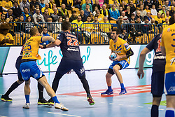 Drasko Nenadic vs Luka Karabatic during handball match between RK Celje Pivovarna Lasko (SLO) and Paris Saint-Germain HB (FRA) in VELUX EHF Champions League 2018/19, on February 24, 2019 in Arena Zlatorog, Celje, Slovenia. Photo by Peter Podobnik / Sportida