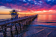 Sunset in December at the Pier in San Clemente