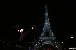 Tribute to Charles Aznavour for his die at Eiffel Tower on October 01, 2018 in Paris, France. Photo by Jerome Domine/ABACAPRESS.COM