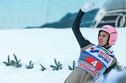 03.01.2016, Bergisel Schanze, Innsbruck, AUT, FIS Weltcup Ski Sprung, Vierschanzentournee, Bewerb, im Bild Stefan Kraft (AUT) // Stefan Kraft of Austria reacts after his Competition Jump of Four Hills Tournament of FIS Ski Jumping World Cup at the Bergisel Schanze, Innsbruck, Austria on 2016/01/03. EXPA Pictures © 2016, PhotoCredit: EXPA/ JFK