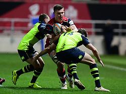 Joe Batley of Bristol Rugby goes into contact  - Mandatory by-line: Alex Davidson/JMP - 08/12/2017 - RUGBY - Ashton Gate Stadium - Bristol, England - Bristol Rugby v Leinster 'A' - B&I Cup