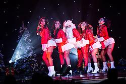 "© Licensed to London News Pictures . 26/06/2013 . Manchester , UK . Santa Claus cabaret skit . The Ladyboys of Bangkok perform their show , "" Glamorous Amorous "" at the Sabai Pavilion , in Manchester , as part of their 2013 UK tour . Photo credit : Joel Goodman/LNP"