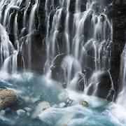 Shirahige no Taki Waterfall (白ひげの滝) in winter. Photographed in Biei, Hokkaido, Japan.