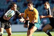 Morgan Turinui passes. Australia A v New Zealand Maori during the 2008 IRB Pacific Nations Cup played at the Sydney Football Stadium, Australia on Sunday June 6. Photo: Clay Cross/SPORTSPICS<br /> clayjcross@bigpond.com    +61 413836650