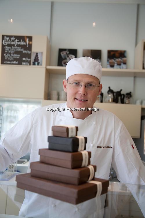 SWEDEN- STOKHOLM - 26/09/2006 : Chokladfabriken - cafe and chocolate house in Sodermalm  .///.Chokladfabriken cafe et chocolat design a Sodermalm