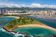 Magic Island, Ala Moana Beach Park, Waikiki, Honolulu, Hawaii