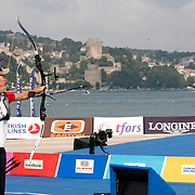Natalia NASARIDZE (TUR) competes in Archery World Cup Final in Istanbul, Turkey, Sunday, September 25, 2011. Photo by TURKPIX