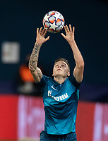SAINT-PETERSBURG, RUSSIA - OCTOBER 20: Danil Krugovoy of Zenit St Petersburg takes a throw in during the UEFA Champions League Group F match between Zenit St Petersburg and Club Brugge KV at Gazprom Arena on October 20, 2020 in Saint-Petersburg, Russia [Photo by MB Media]