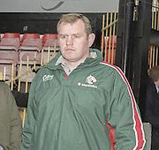 Watford. Great Britain. <br /> Leicester Tigers Coach, Dean RICHARDS.<br /> Heineken Cup Semi Final; Gloucester Rugby vs Leicester Tigers. Vicarage Road Stadium, Hertfordshire.England.  <br /> <br /> [Mandatory Credit, Peter Spurrier/ Intersport Images].