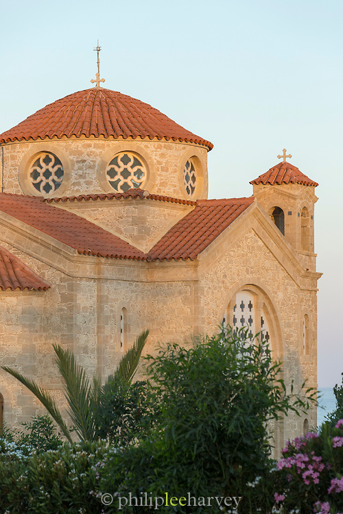 Architecture of majestic old Church of St George, Paphos, Cyprus