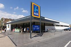 Aldi supermarket, Tottenham, London. Rebuilt after the Tottenham riots