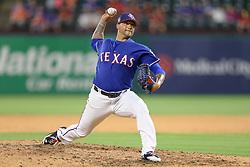 March 26, 2018 - Arlington, TX, U.S. - ARLINGTON, TX - MARCH 26: Texas Rangers relief pitcher Matt Bush (51) comes in to pitch during the exhibition game between the Cincinnati Reds and Texas Rangers on March 26, 2018 at Globe Life Park in Arlington, TX. (Photo by Andrew Dieb/Icon Sportswire) (Credit Image: © Andrew Dieb/Icon SMI via ZUMA Press)