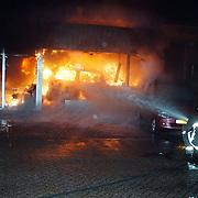 Brand Opeldealer Fred Janssen Ambachtsweg Huizen