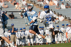 26 April 2009: North Carolina Tar Heels midfielder Chris Hunt (5) during a 15-13 loss to the Duke Blue Devils during the ACC Championship at Kenan Stadium in Chapel Hill, NC.