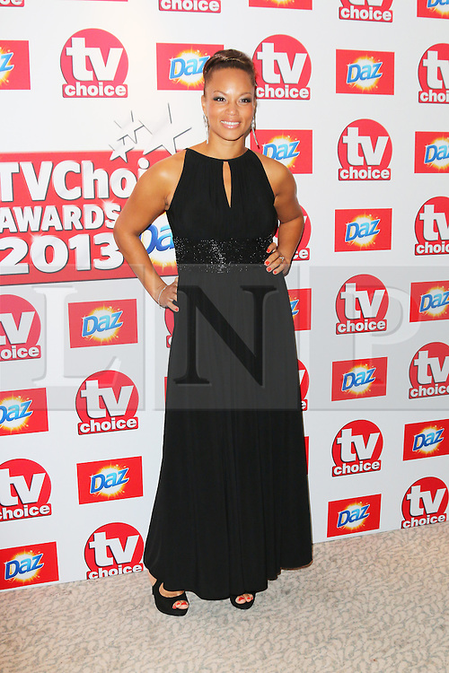 © Licensed to London News Pictures. 09/09/2013, UK. Angela Griffin, TV Choice Awards, The Dorchester Hotel, London UK, 09 September 2013 Photo credit : Richard Goldschmidt/Piqtured/LNP