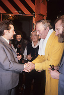 Lech Walesa president of solidarnosc from Poland visit Paris at the invitation of CFDT union
