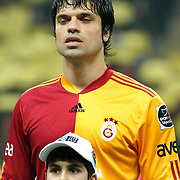 Galatasaray's Gokhan ZAN during their Turkish superleague soccer derby match Galatasaray between Fenerbahce at the Turk Telekom Arena in Istanbul Turkey on Friday, 18 March 2011. Photo by TURKPIX