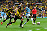 Raheem Sterling (7) of Manchester City on the attack during the The FA Cup Final match between Manchester City and Watford at Wembley Stadium, London, England on 18 May 2019.