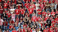 Fotball<br /> Tippeligaen Eliteserien<br /> 16.06.07<br /> Ullevaal Stadion<br /> FC Lyn Oslo - SK Brann<br /> Frustrasjon blant de mange tilreisende Brann - supporterne<br /> Foto - Kasper Wikestad