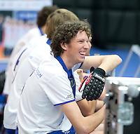 ROTTERDAM -  Voordaan H2 tegen HDM H3 tijdens het Landskampioenschap reserveteam zaal 2013. FOTO KOEN SUYK